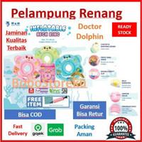 DOCTOR DOLPHIN Baby Neck Ring / Pelampung leher bayi / Ban Renang Bayi - Hijau