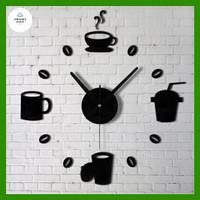 Jam Dinding Besar DIY Giant Wall Clock Model Kopi