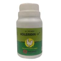 KOLERIDIN-K ISI 100 KAPLET (OBAT CRD, KOLERA & PULLORUM PADA UNGGAS)