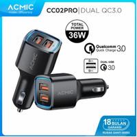 Acmic Original Fast Charging Charger Mobil 36W Saver QC 3.0 Car Carger