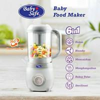 Baby Safe LB012 Baby Food Maker 6in1 Processor Steamer Blender Steam