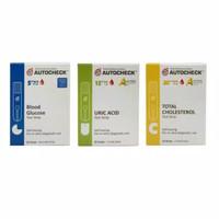 paket strip gula darah asamurat kolesterol AUTOCHEK Test strip.