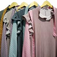 Baju Gamis Wanita Black Jelly Maxi Dress Terbaru - pink