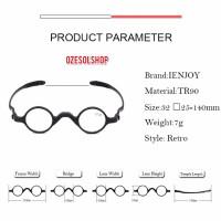 kacamata unik bulat free lensa plus/minus/cylinder single vision