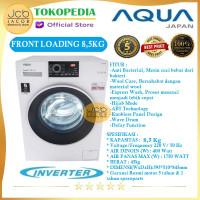 AQUA MESIN CUCI FRONT LOADING AQUA JAPAN FQW 850829 QD INVERTER 8.5 KG