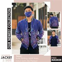 Jaket Boomber Pria Batik Exclusive Faaro Design