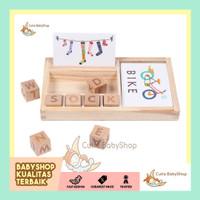 Mainan Edukasi |Mainan Membaca|Wooden Alphabet