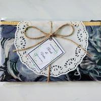 Souvenir pernikahan dompet ibu kemas tali free ucapan - Dengan tali