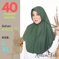 Hijab Instant Bergo Kaos Antem Tali (topi-pet) L XL