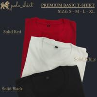 Kaos polos premium pria - cotton combed 20s