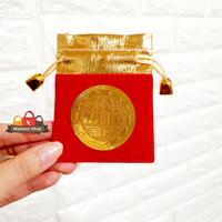 Kantong Kain Beludru Angpao Kain Imlek Murah Kantong Perhiasan Merah