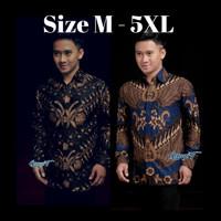 Baju Batik Pria Jumbo Big Size M-5XL kemeja batik lengan panjang 05