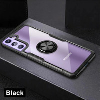 Casing Samsung Galaxy S21 S 21 Ring Hard Soft Case Magnetic Back Cover