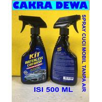KIT WATERLESS CAR WASH Spray Praktis cuci mobil tanpa air shampo 500Ml