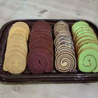 Kue Tampah Roll Lapis Legit Coklat pandan Enak