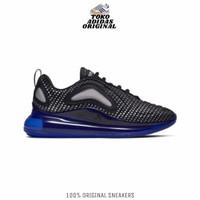SEPATU SNEAKERS NIKE AIR MAX 720 BLACK RACER BLUE ORIGINAL 100% BNIB