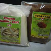 Paket asam lambung tepung garut/arrowroot dan gula aren/semut kemas250