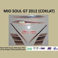 Mio soul GT 2012 (coklat) List Striping Stripping Stiker Sticker