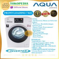 AQUA MESIN CUCI FRONT LOADING AQUA JAPAN FQW 700829 QD INVERTER 7 KG