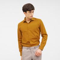 CROW KIRIN Oxford Mustard Long Sleeves Shirt / Kemeja Oxford