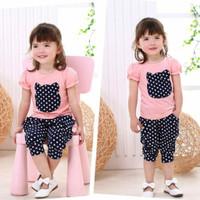 Baju Setelan Anak Perempuan Model Kitty Umur 1-5 Tahun