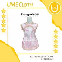 Cheongsam cewek murah / Imlek / Baju Shanghai anak #8091 #8092 #8093 - 8091, S