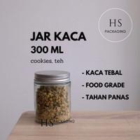 300ml Toples Jar Botol Kaca / Glass Jar 300 ml tutup stainless
