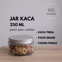 250ml Toples Jar Botol Kaca / Glass Jar 250 ml tutup aluminium