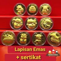Kantong Koin Emas 24k Tahun 2021 Kerbau Kado Imlek Angpao Koin Emas