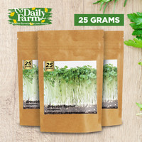 Benih Microgreens BROCCOLI SPROUT - Brokoli ( 25 GRAM ) Bulk Size