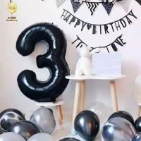 Windblown Balloon Foil Number Black 80cm / Balon Angka Hitam 80cm - 9