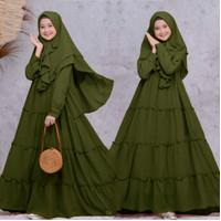 Gamis Fashion Muslim Aina Kids Army