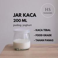 200ml Toples Jar Botol Kaca / Glass Jar 200 ml puding yogurt selai