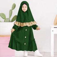 Gamis Anak Perempuan Brissa Fashion Anak Busana Muslim Baju Gamis Anak - Hijau