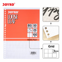 Joyko Loose Leaf B5 Grid / Kertas Binder Joyko Kotak Tebal 100GR
