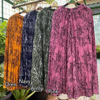 Rok plisket panjang jumbo / Rok plisket payung muslimah warna terang