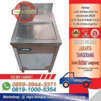 SS Cabinet Ice Bin With Swing Door / Lemari Bak Penyimpanan Es Batu