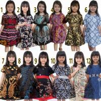 Dress Batik Anak Terbaru Lengan Pendek   Baju Dress Anak   Batik Anak