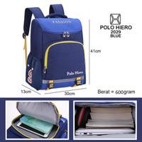 tas sekolah anak polo hiero 2029 free botol minum - blue pink