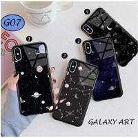 Casing HP Hard Case Galaxy Art Kilau Print XIAOMI Redmi 8 9 9A Go 7A