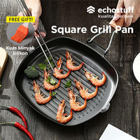 ECHOSTUFF SQUARE GRILL PAN ALAT PANGGANG LIPAT BBQ STEAK 20 CM