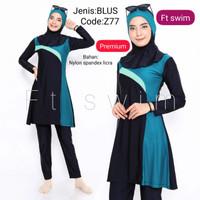 Baju renang muslimah dewasa/pakaian renang remaja perempuan