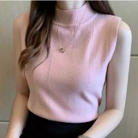 import tanktop atasan baju wanita tangtop korea turtle high neck