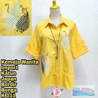 Shirt / Kemeja / Wanita / Kuning / Bordir Fendi XL
