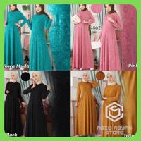 Gamis Polos Jersey Embos Baju Gamis Wanita Terbaru Gamis Jumbo XL 9862