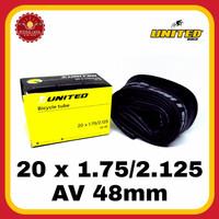 UNITED 20 x 1.75/2.125 AV 48mm Ban Dalam Sepeda