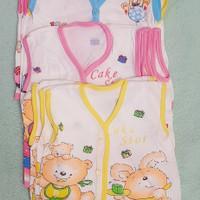 baju bayi lengan kuntung 0-6 bln 3 pcs