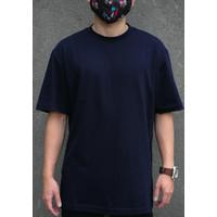 Teemochi kaos baju Oversized Oversize T-shirt navy biru dongker