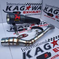 Knalpot Racing Akrapovic Aerox Nmax Xmax Pcx Vario Beat Scoppy Mio