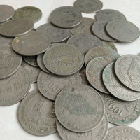 Koleksi koin kuno uang mahar 100 Rupiah Wayang Tipis Tahun 1978
